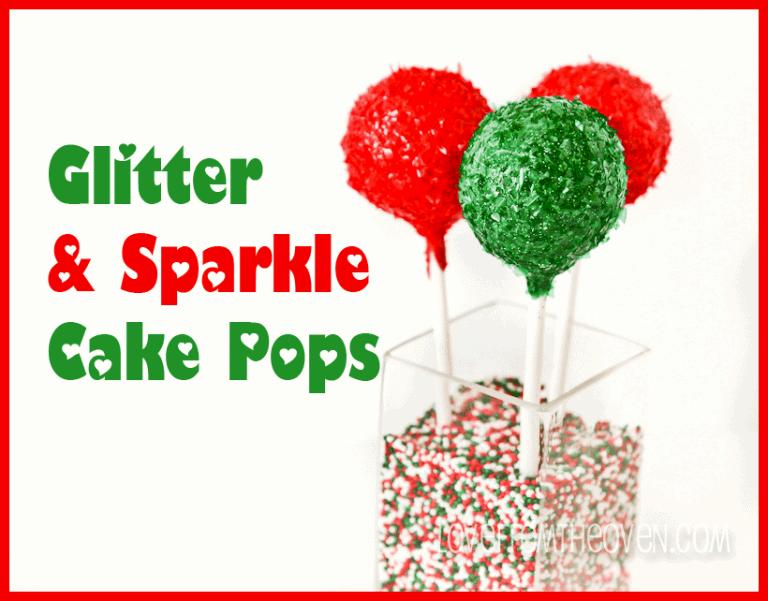How To Make Glitter Cake Pops