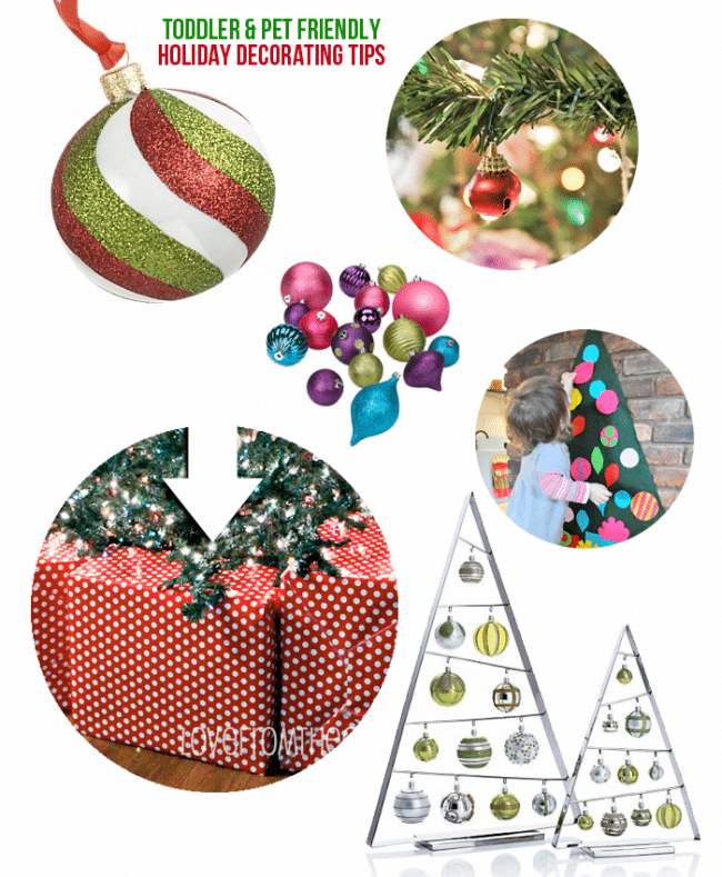 kid and pet friendly decorating ideas - Child Proof Christmas Tree Decorations