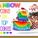 Rainbow Cupcake Pop On The Top Cupcakes
