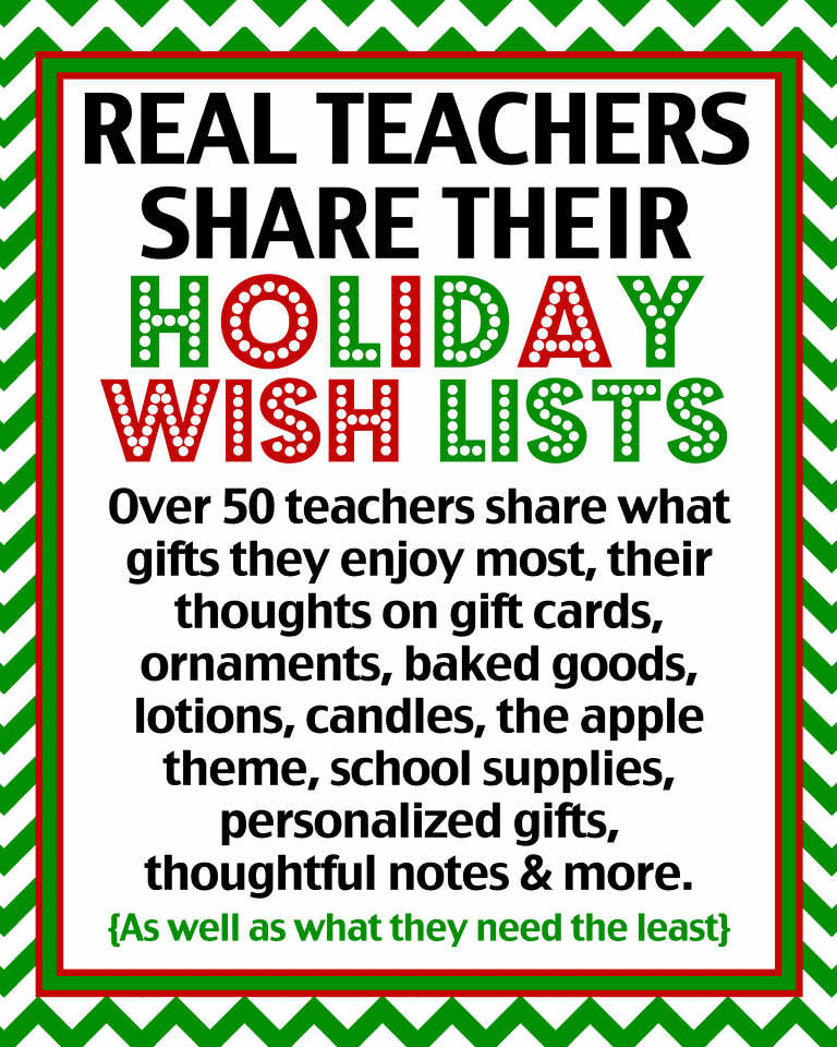 Teacher Gift Ideas - Over 50 Real Teachers Share What They Really ...