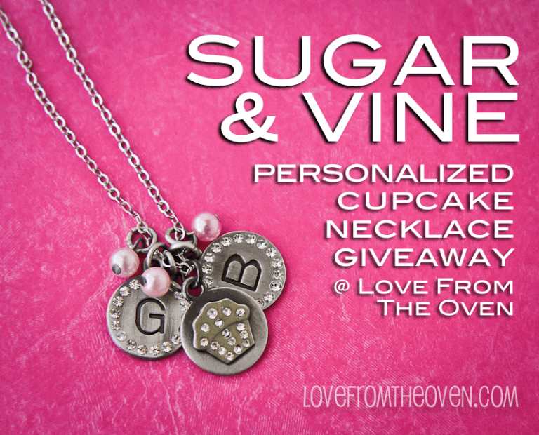 Sugar And Vine Personalized Cupcake Necklace at Love From The Oven