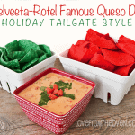 Festive Holiday Tailgating With <BR>Rotel & Velveeta's Famous Queso Dip