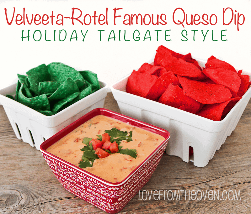 Velveeta RoTel Queso Dip #QuesoOccasions by Love From The Oven