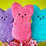 Chocolate Covered PEEPS Krispy Treats