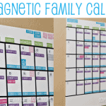Our Magnetic White Board Family Calendar <BR>With Free Calendar Printables