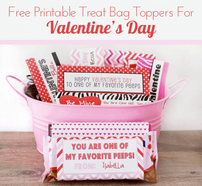 free valentine's day printable treat bag toppers - love from the oven, Ideas