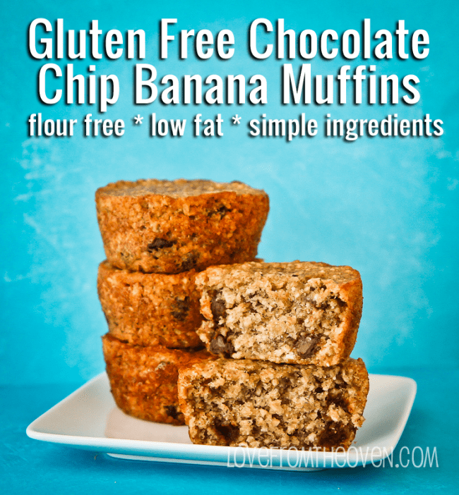 Gluten Free Chocolate Chip Banana Muffin Recipe by Love From The Oven