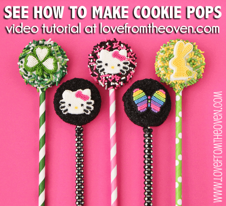 How To Make Chocolate Cookie Pops Video Tutorial by Love From The Oven