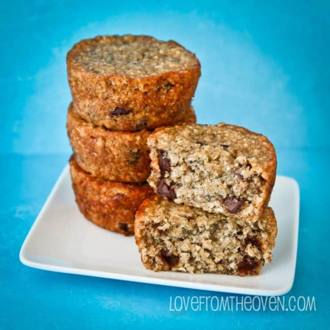 Love From The Oven Gluten Free Banana Chocolate Chip Muffins