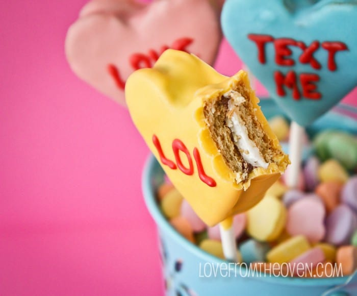 Conversation Heart Smores Pops