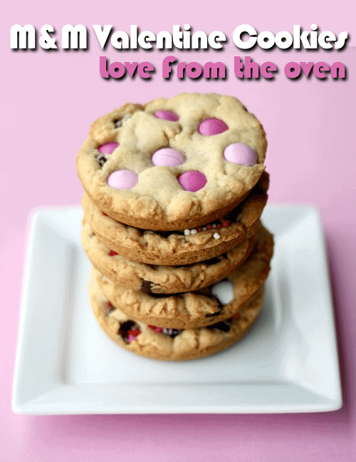 Sweetheart Pink Heart White Chocolate Chip Valentine Cookies Love