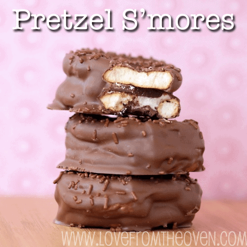 Pretzel S'mores by Love From The Oven
