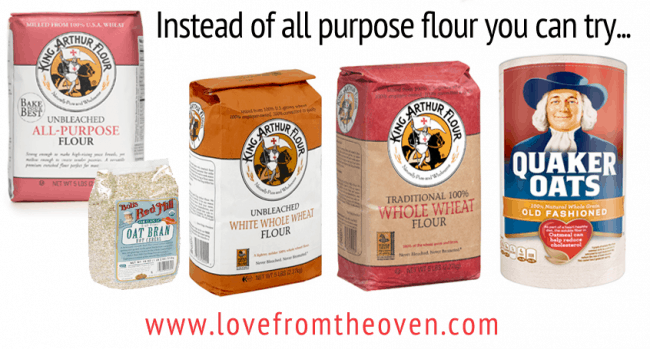Replacing All Purpose Flour With Whole Grains in Recipes