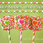 Easy Rice Krispies Treat Valentine Pops
