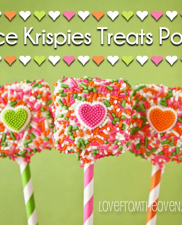 Easy Rice Krispies Treat Valentine Pops