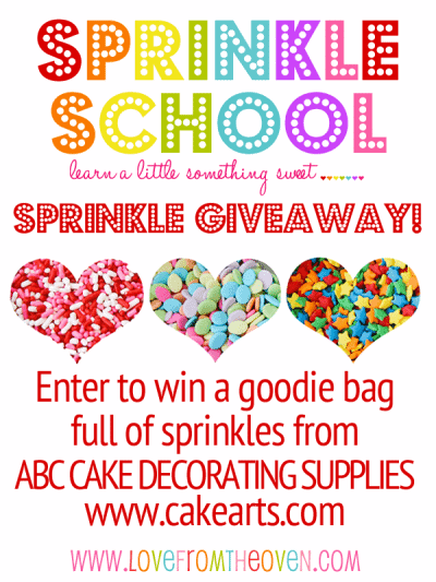 Sprinkle school where to find buy sprinkles and a for Abc cake decoration