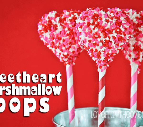 Valentine Sweetheart Marshmallow Pops