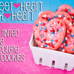 Sweetheart Pink Heart White Chocolate Chip Valentine Cookies