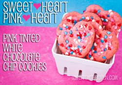 Sweetheart Pink Heart Cookies by Love From The Oven
