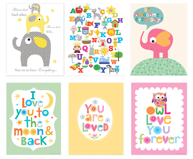 Cute and affordable art for kids rooms