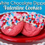 White Chocolate Dipped Valentine Cookies