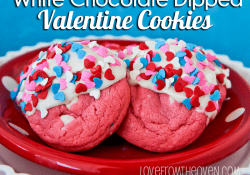 Valentine Cookies Dipped in White Chocolate by Love From The Oven