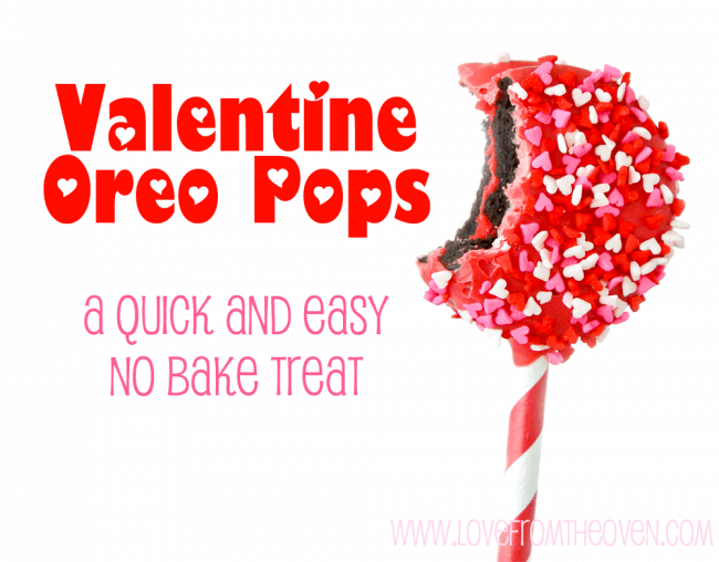 Valentine Oreo Pops by Love From The Oven