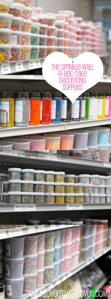 Wall Of Sprinkles at Love From The Oven