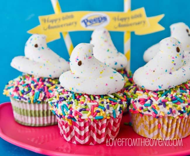 Anniversary PEEPS Cupcakes by Love From The Oven
