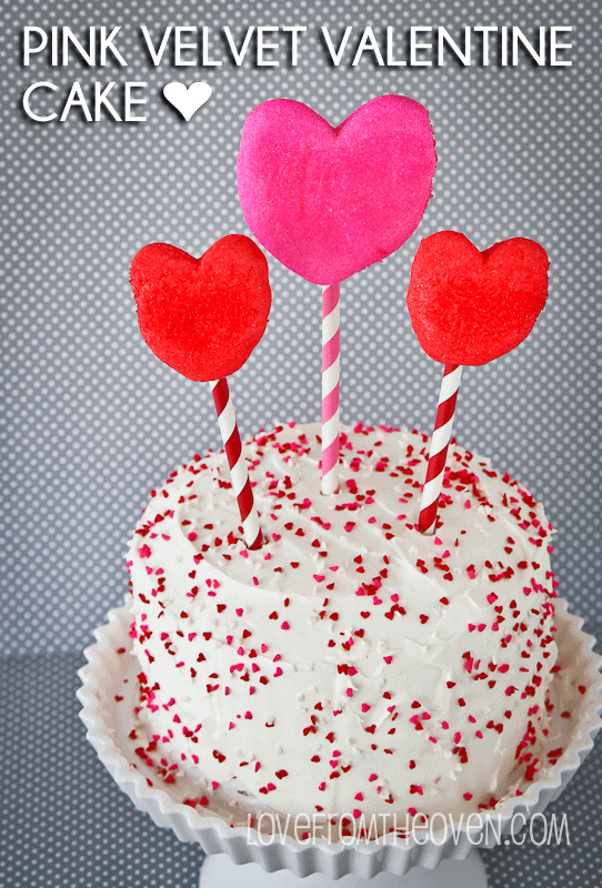 Pink Velvet Valentine Cake by Love From The Oven
