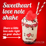 Love Note Sweetheart Shake
