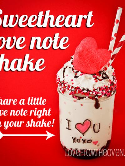 Love Note Sweetheart Shake