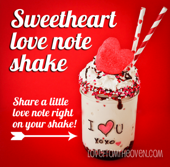 Sweetheart Love Note Shake by Love From The Oven