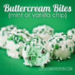 Buttercream Bites In Mint or Vanilla Chocolate Chip