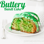 Buttery Bundt Cake For St. Patrick's Day