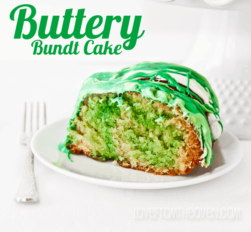 Buttery Bundt Cake for St. Patrick's Day by Love From The Oven