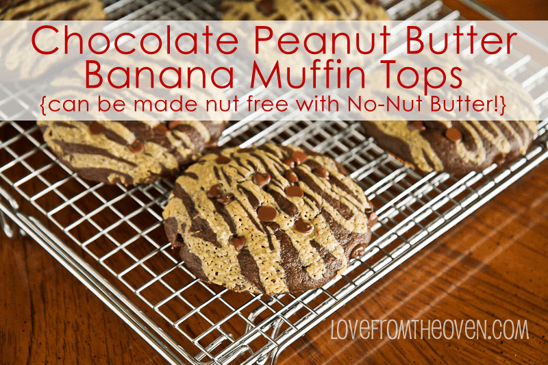 Chocolate Peanut Butter Muffin Tops by Love From The Oven