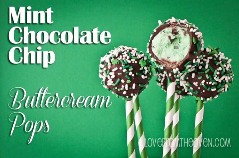 Mint Chip Buttercream Pops @lovefromtheoven