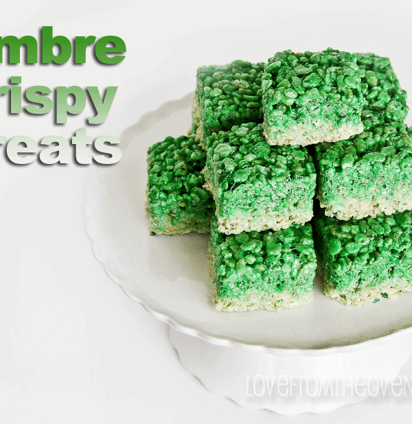 Ombre Green Rice Crispy Treats