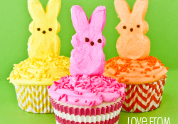 PEEPS Easter Bunny Cupcakes by Love From The Oven