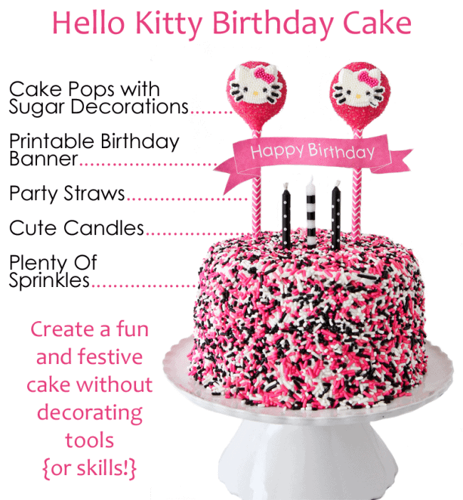 Hello Kitty Cake Other Character Decorating Ideas
