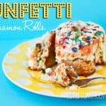 Funfetti Cinnamon Rolls for A Birthday Breakfast