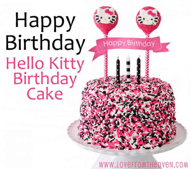 Tremendous Hello Kitty Cake Other Character Decorating Ideas Love From Funny Birthday Cards Online Elaedamsfinfo
