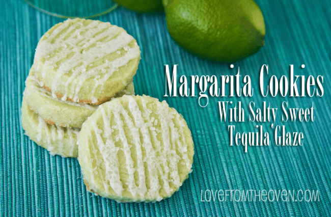 Margarita cookies on a blue background