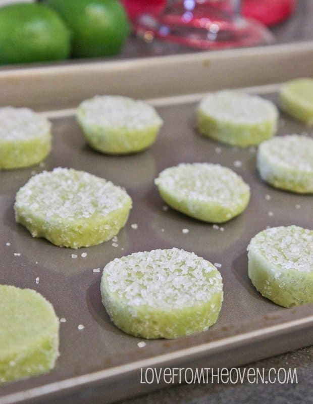 Margarita cookies on a tray