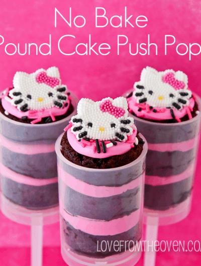 No Bake Pound Cake Push Pops