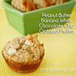 Peanut Butter Banana White Chocolate Chip Muffins