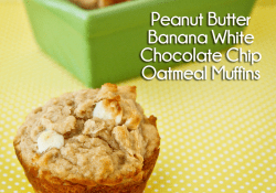 Peanut Butter Banana White Chocolate Chip Muffin Recipe by Love From The Oven