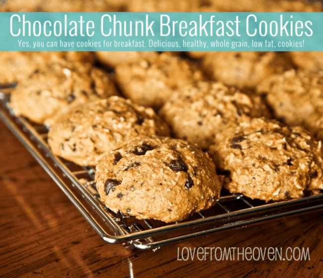 Chocolate Chunk Breakfast Cookies