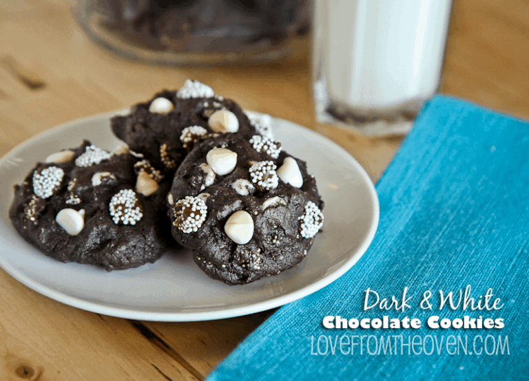 Dark And White Chocolate Cookie Recipe at Love From The Oven